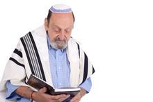 Eldery Jewish Man Wrapped In T...