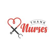 Thank Nurses Vector Template Design Illustration