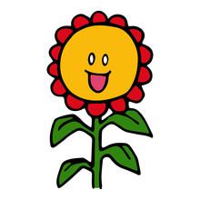 Sunflower Cartoon Illustration...