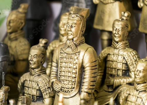 Foto op Plexiglas Xian terracotta army figure in china
