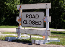 Old Road Closed Sign