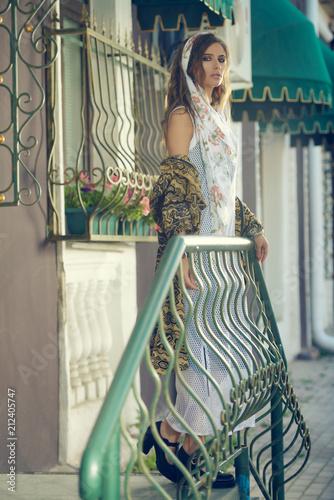 Poster Gypsy female boho style