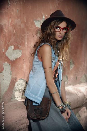 Poster Gypsy denim boho style