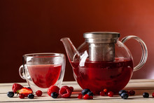 Mint Tea With Forest Berries I...
