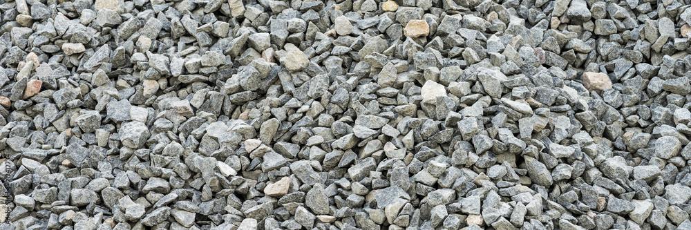 Fototapety, obrazy: Gray gravel stones for the construction industry