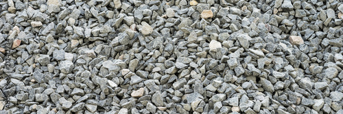 Fototapeta Gray gravel stones for the construction industry
