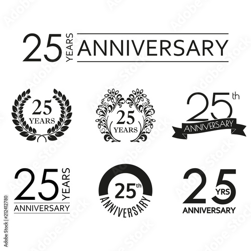 Fotografía 25 years anniversary icon set