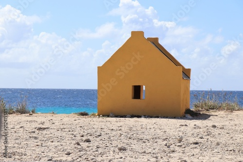 Fotografie, Obraz  Historic salt slave huts in Bonaire