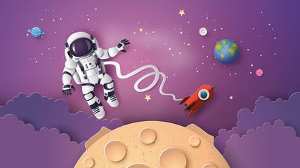 Fototapeta Astronaut Astronaut floating in the stratosphere .