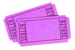 canvas print picture - Blank pink raffle tickets isolated