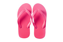 Flip Flops Pink Isolated On White Background