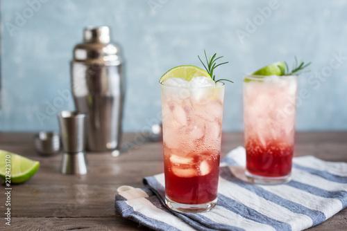 Valokuvatapetti Sloe Gin Fizz Cocktail