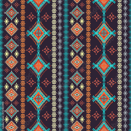 Canvas Print Ethnic seamless pattern