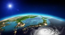 Japan Tornado. 3d Rendering