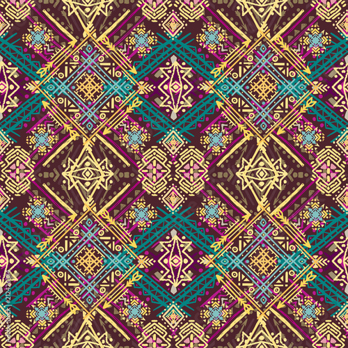 Photo Ethnic seamless pattern