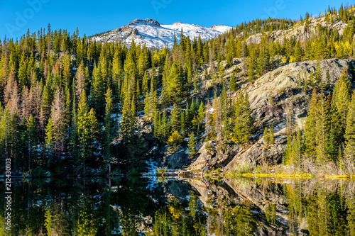 Spoed Foto op Canvas Verenigde Staten Bear Lake, Rocky Mountains, Colorado, USA.