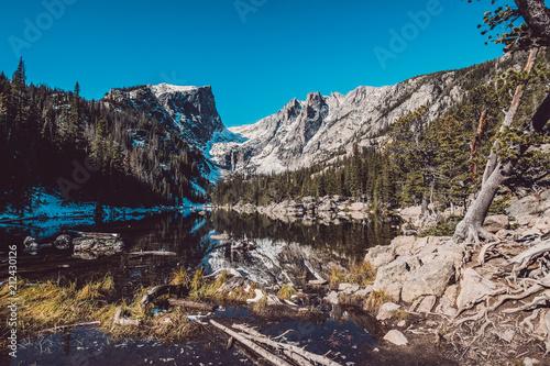 Spoed Foto op Canvas Verenigde Staten Dream Lake, Rocky Mountains, Colorado, USA.