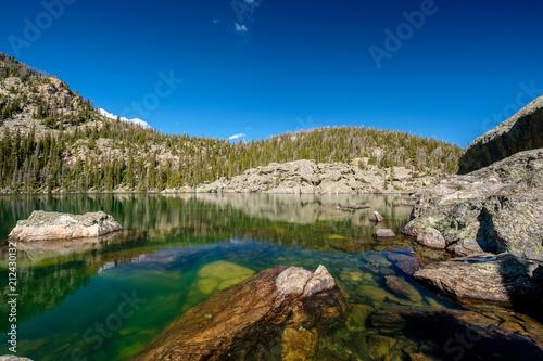 Spoed Foto op Canvas Verenigde Staten Lake Haiyaha, Rocky Mountains, Colorado, USA.