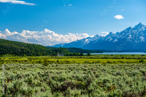 Foto op Canvas Verenigde Staten Mountains in Grand Teton National Park