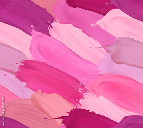 Plakaty do antyram, ramek lub samoprzylepne vector-seamless-pattern-with-lipstick-strokes-in-different-colors-modern-trendy-element-for-your-designs