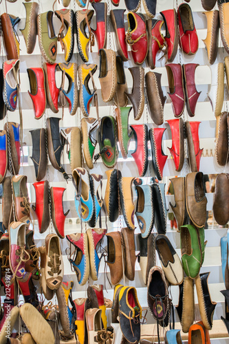 Fototapety, obrazy: Set of traditional hand made shoes