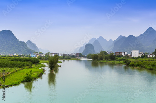 Foto op Canvas Guilin The beautiful landscape of Guilin in Yangshuo