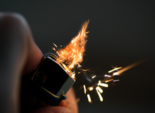 Lighters With Flame Sparking O...