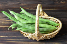 Green Beans In The Basket