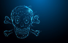 Skull And Crossbones Form Line...