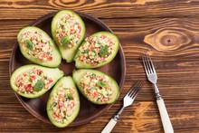 Avocado Stuffed With Cucumber ...