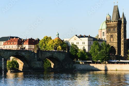 Plakat Most Karola w zachodzie słońca