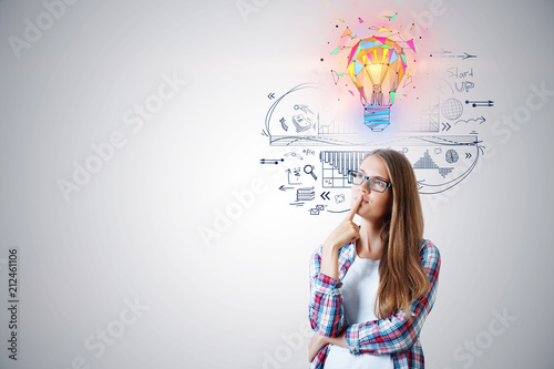 Obraz business idea concept - fototapety do salonu