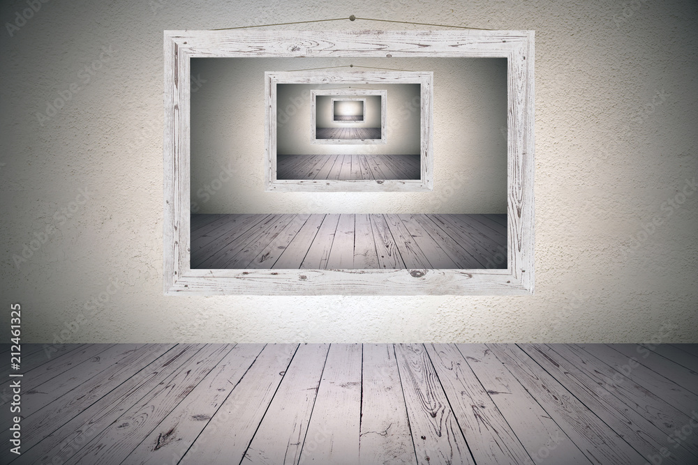 Fototapety, obrazy: surrealistic picture frame