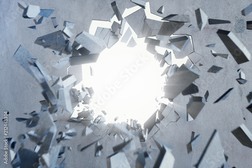 Fotografía Cracked earth abstract background with volume light rays
