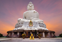 The Holy Big Buddha Statue On Nakkerd Hills On Phuket Island - Thailand
