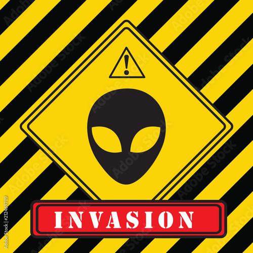Invasion of aliens Wallpaper Mural