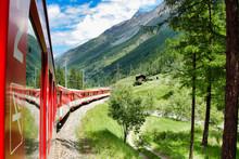 Running Train At The Railroad ...