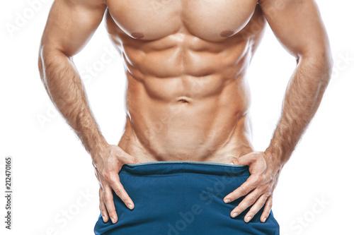 Photo bodybuilder posing