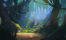 Game Art Fantasy Forest Enviro...