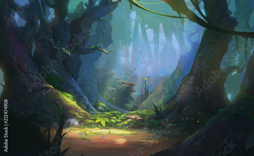 Photo Game Art Fantasy Forest Environment