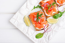 Smoked Salmon Sandwich With Cr...