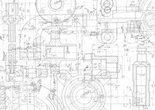 Technical Drawing Background .Mechanical Engineering Drawing