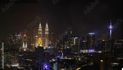Photo  Skyline of Kuala Lumpur at Night