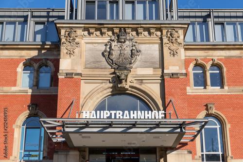 Fotobehang Treinstation Bahnhof in Kiel