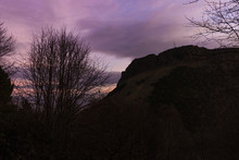 Silhouette Of Arthur Seat At Dawn