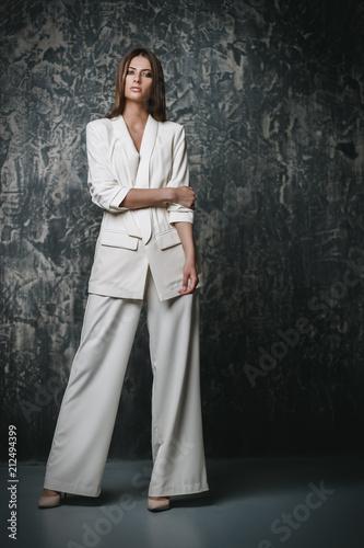 Deurstickers Wanddecoratie met eigen foto fashionable young woman