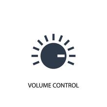 Volume Control Creative Icon. Simple Element Illustration