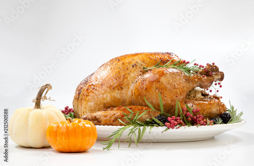 Fotografia  Thanksgiving Turkey on White
