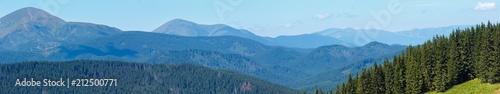 Foto auf AluDibond Gebirge Summer mountain view (Carpathian, Ukraine).