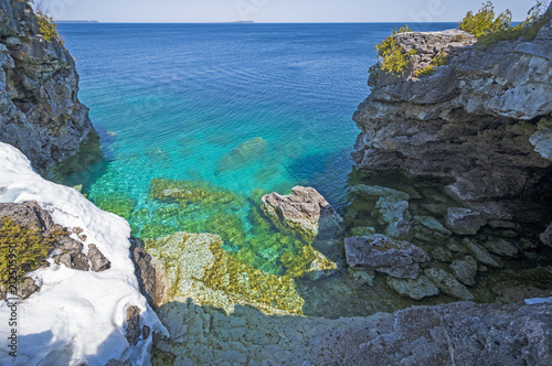 Colorful Rock Formations along the Great Lakes